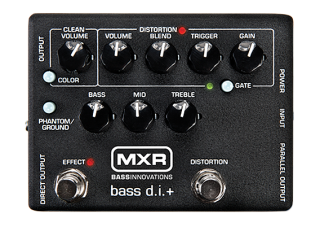 Dunlop M80 MXR Bass D.I-+ (distortion, noise gate, EQ,  symetrický D.I.)