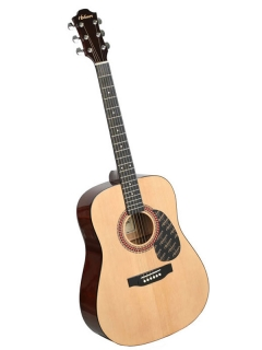 Hohner HW 220 N, natural, dreadnought steel string guitar