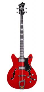 Hagstrom Viking Bass - Wild Cherry Transparent