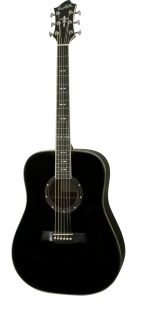 Hagstrom Siljan Dreadnought - Black Gloss
