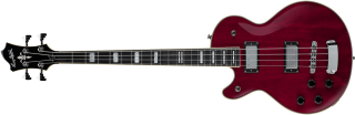 Hagstrom Swede Bass Left Hand - Wild Cherry Transparent