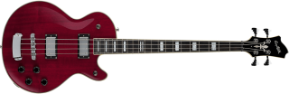 Hagstrom Swede Bass - Wild Cherry Transparent