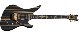 Schecter SYNYSTER GATES CUSTOM-S  BLK/GOLD